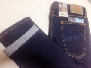 <裾上げ事例>ヌーディージーンズ(Nudie Jeans)のデニムを裾上げ
