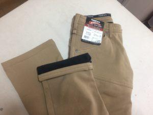 IMG 2379 300x225 - ズボン裾上げ事例:ワークマンの防寒パンツ